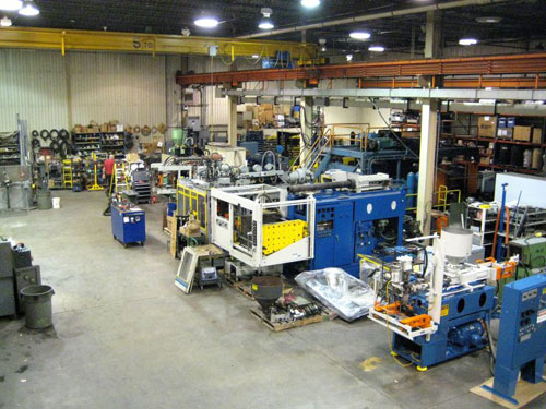 View of part of the Jackson Machinery Inc. Shop Floor